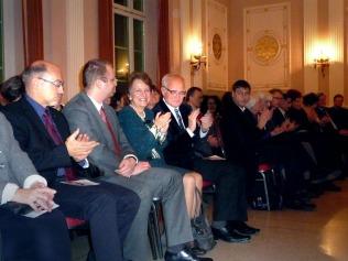 5. Herbstkonzert 17.11.13 von links Prof. Dieter Bingen, Frau Danuta Gwizdalanka, Prof. Krzysztof Meyer