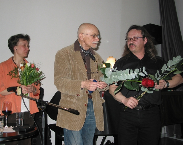 Alex Fleischer (Poesie), Marian Pampuch (Musik), Agnieszka Siemasz Kaluza (Dolmetscherin)